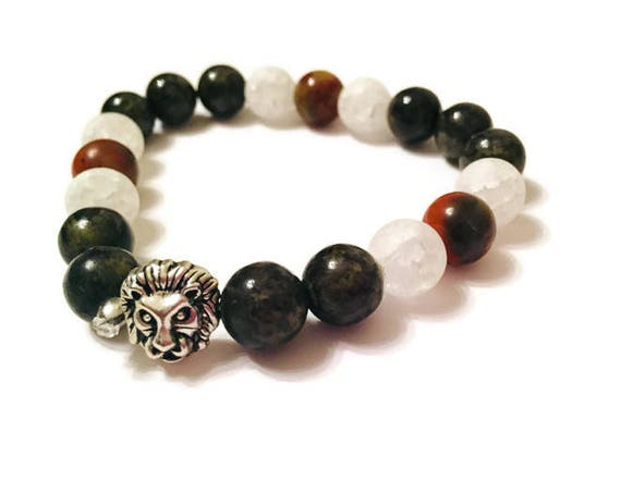 Dyed Quartzite Bracelet, 8-Inch Bead Bracelet, Healing Stones, Handmade Jewelry, Custom Jewellery, Gift for Her, Poppy Jasper Gemstones