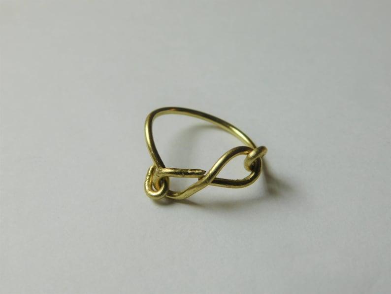 Slanted infinity Ring B size 5