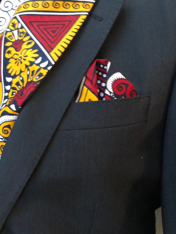 Mens African Print Pocket Square, Ankara Fabric Handkerchief, Suit Accessories, Mens Formal, Kente Gifts, Wedding Outfit, Gift for him