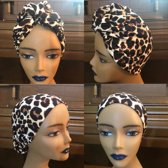 Pre-tied Headwrap; Turban; Slip-on Scarf; Adjustable Head-wrap with faux bun; Gift for her; Premade Headcovering; Seamless; Hair Accessories