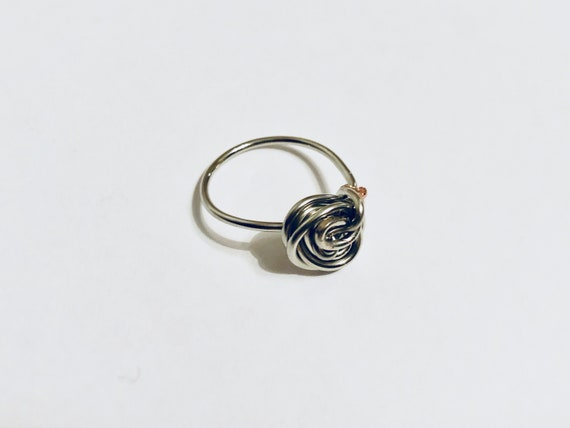Silver Swirl Ring, Wire Wrapped Ring, Ring Jewellery, Ring for women, Wire Ring, Handmade Jewelry, Boho Rings, Rings for her, Ring Gift