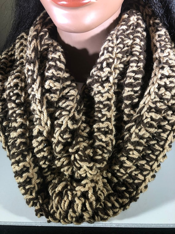 Crochet Infinity Scarf, Handmade, Cowl, Neck warmer, Circle shawl, long scarf, Gift for Mom, Gift for her
