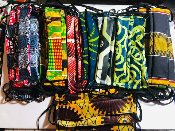 Face Masks-Reusable Washable Reversible Cloth- African Prints- 100% Cotton! Fast shipping!