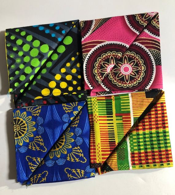 Men's Pocket Square- African Print- wax Print- Handkerchief- Kente- Ankara- Wedding Accessories- Gift for men- Gift for him
