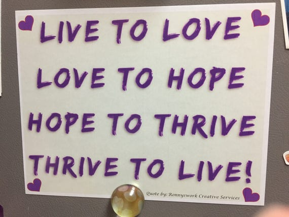 Live and Love Quote on a Magnet | Custom Magnet | Inspiring Quote | Love Quote | Quote Magnet | Fridge Magnet | Gift | Office decor