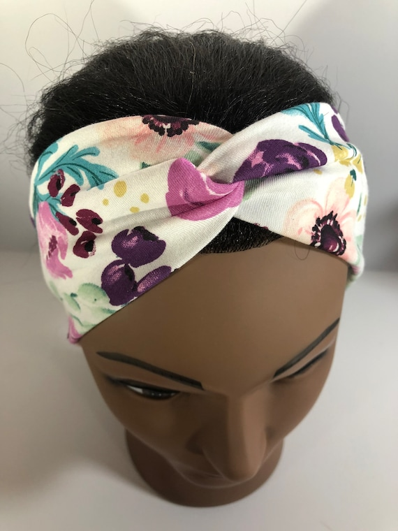 Headbands for all ages, button headbands, Floral Print, Turban Headband, Hair accessories, Hairbands, Gift for her, baby headbands