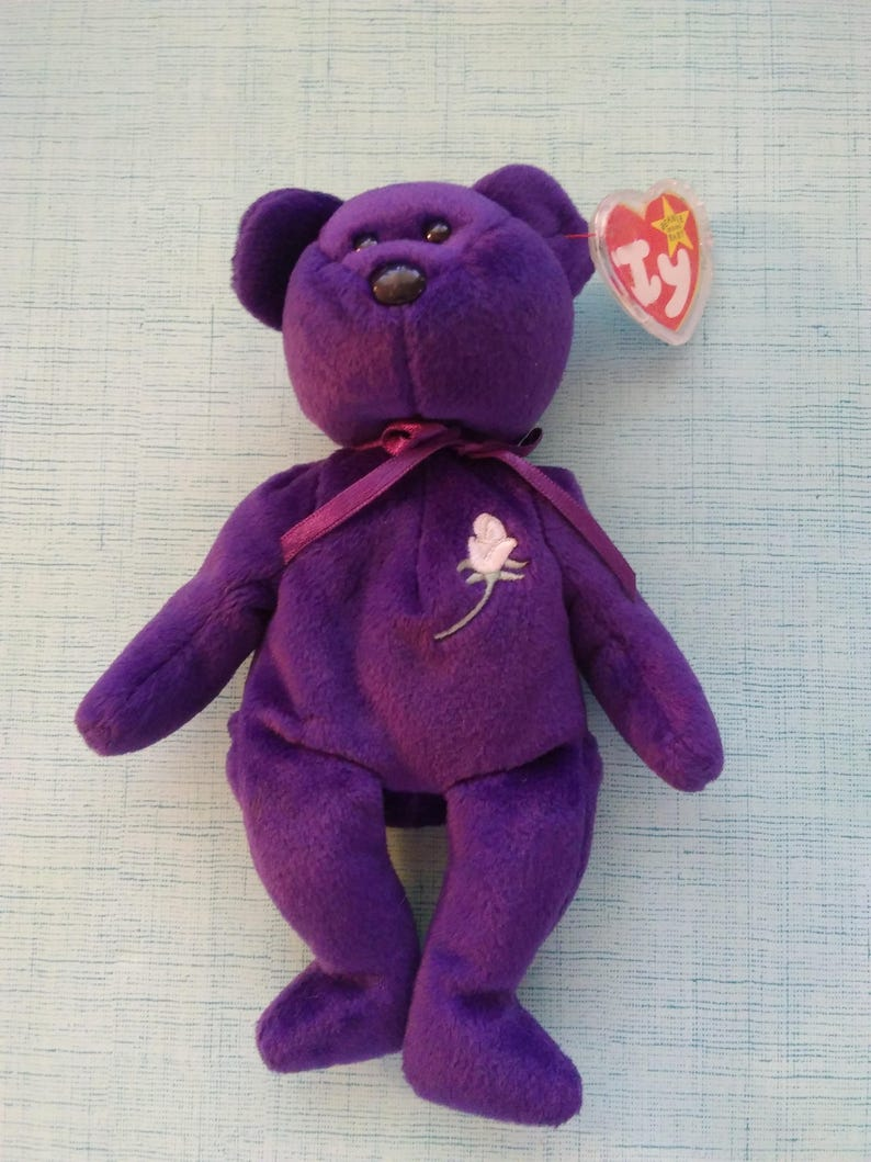 Diana Bear from 1997 ~ RARE /& RETIRED Ty Beanie Baby ~ PRINCESS the MINT!!!