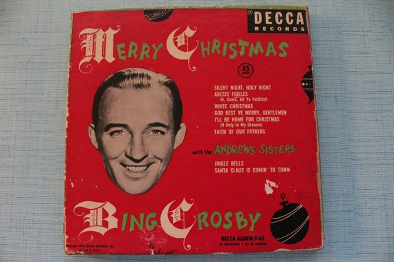 Bing Crosby Christmas.Vintage 1953 Bing Crosby Christmas 45 Collection