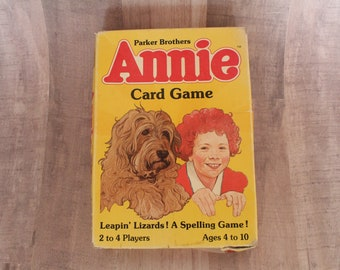 Vintage 1980's Annie Card Game