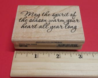 2008 Stampabilities Rubber Stamp ~ Warm Your Heart