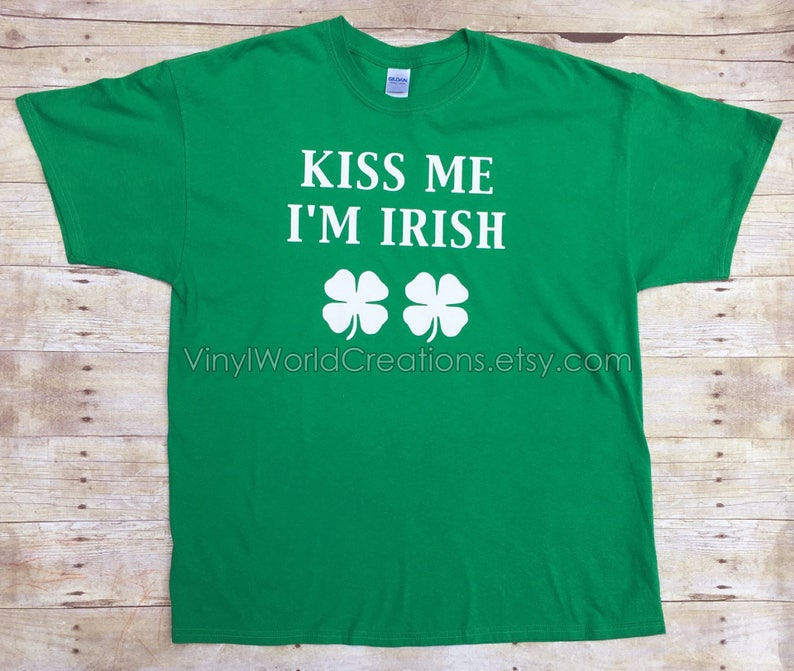 c4b35544 MENS KISS ME I'm Irish T shirt/ St. Patricks Day Irish | Etsy