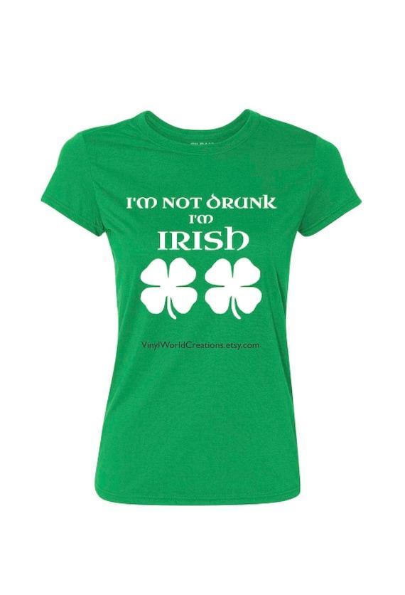 Im Not A Leprechaun Irish St Patricks Day Funny T Shirt Irish Paddy Top Ireland