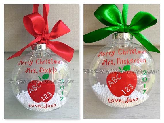 Christmas Presents For Teachers.2 Christmas Ornaments For Teacher Christmas Presents For Teacher Christmas Gift For Teacher Holiday Gift For Teacher Apple Ornament