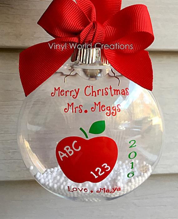 Christmas Ornament für Lehrer Weihnachtsgeschenk für Lehrer | Etsy