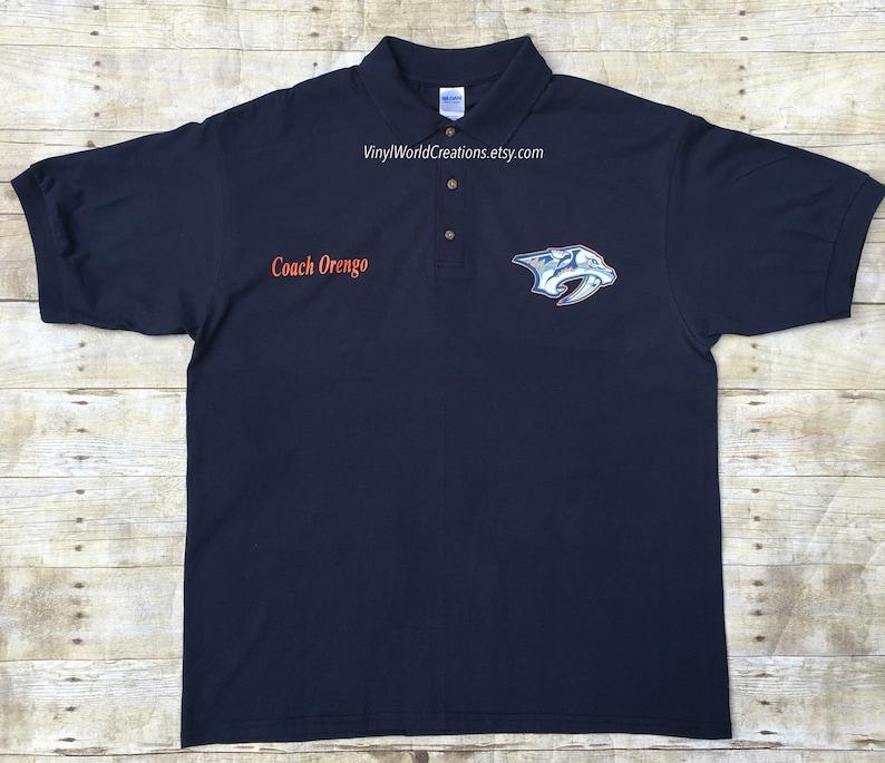 Custom Polo Shirts For Coaches Teachers Businesses Etsy
