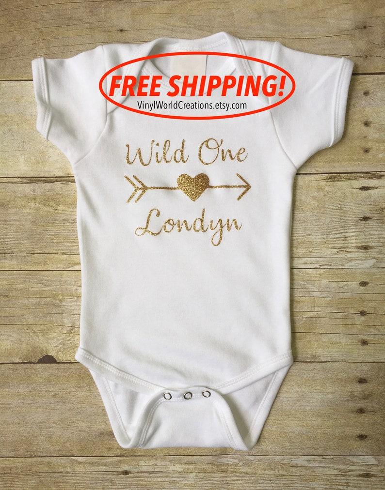5da73905d2f99 FREE SHIPPING/ Wild One shirt/ 1st birthday gold glitter onesie/ Wild One  Year old Gold glitter onesie/ / wild one tee/Wild One bodysuit