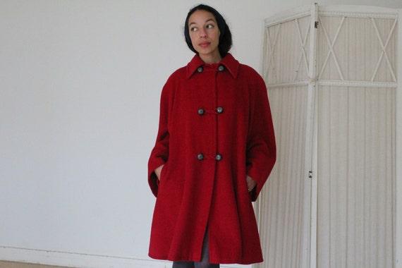 Vintage Valentino Miss V red coat