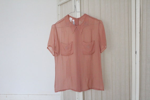 Vintage Cacharel sheer blouse
