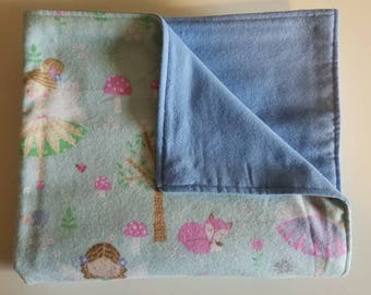 Baby/Toddler Blanket, Fairy, Forest, Baby Shower Gift, Baby girl