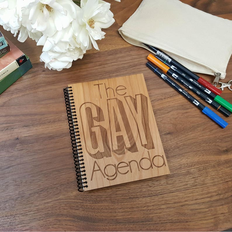 The Gay Agenda: Notebook Diary 110 Lined Pages Journal