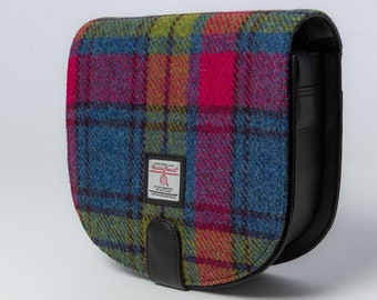 Small Cross Body Bag / Satchel Bag in Rainbow Tweed (Genuine Harris Tweed). Ladies Satchel, Crossbody Purse.