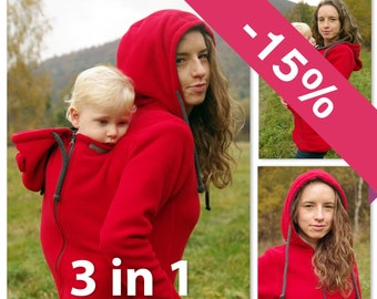 06849ec546b53 Versatile polar FLEECE baby wearing coat
