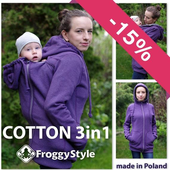 f49da7aa88be Manteau veste de portage bébé 3en1 en coton FROGGY STYLE   Etsy