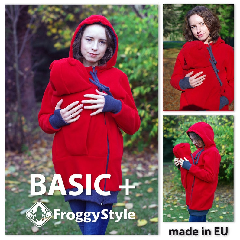 f355f6ebce8ae BASIC babywearing coat Froggy Style standard kangaroo | Etsy