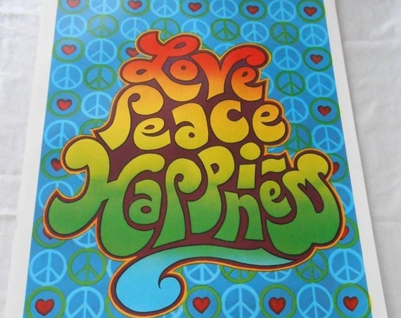 1970's Peace Poster, Wall Art