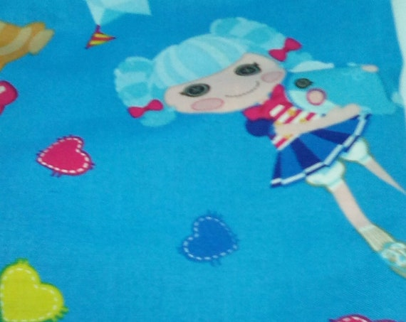2 Yards Cotton Novelty Fabric, Lala Loopsie Fabric, Girl and Beach Theme Material