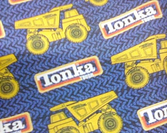1 Yard Cotton Tonka Novelty Fabric, Tonka Truck Fabric, Tonka Dump Truck Material