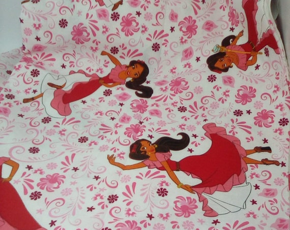 2 Yards Cotton Novelty Fabric, Elena of Avalor Material, Cotton Licensed Fabric