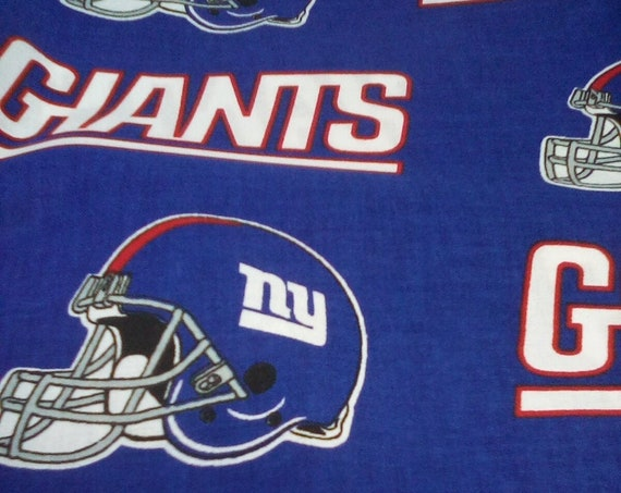 1 Yard of Cotton Fabric, New York Giants Licensed Fabric, NFL Sports Fan, NY Giants Football Team Material