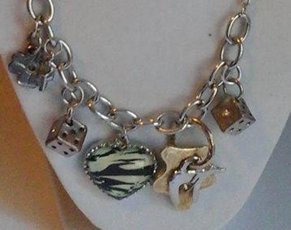 Women's Vintage Statement Charm Necklace,