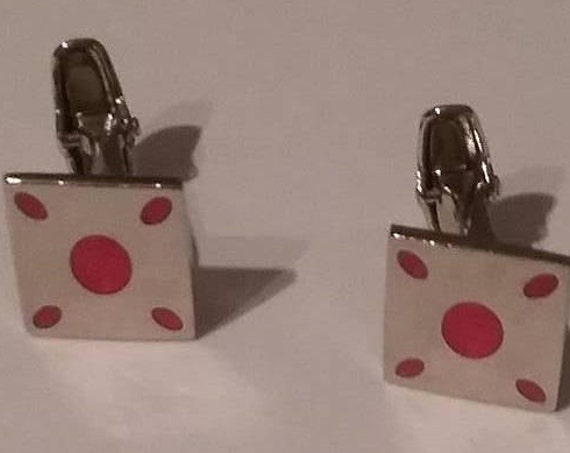 Vintage Silver Plated Cuff Links,
