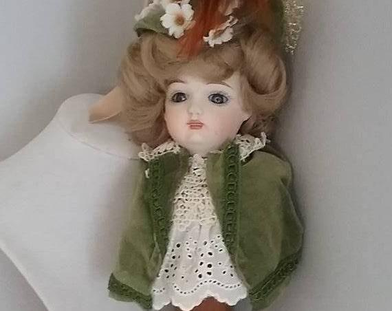 Vintage Musical Porcelain Doll,