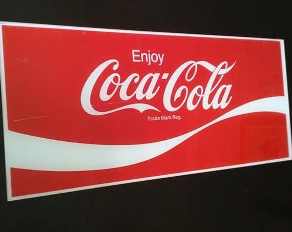 Vintage Coca-Cola Fiberglass Sign, Coke Advertisement Sign