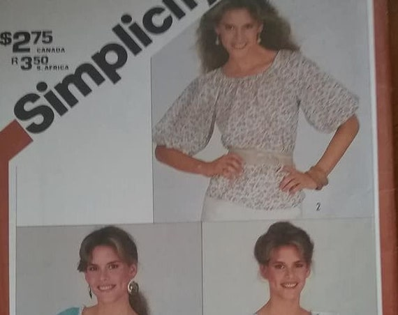 Vintage Boho or Peasant Blouse Pattern, Simplicity 5376