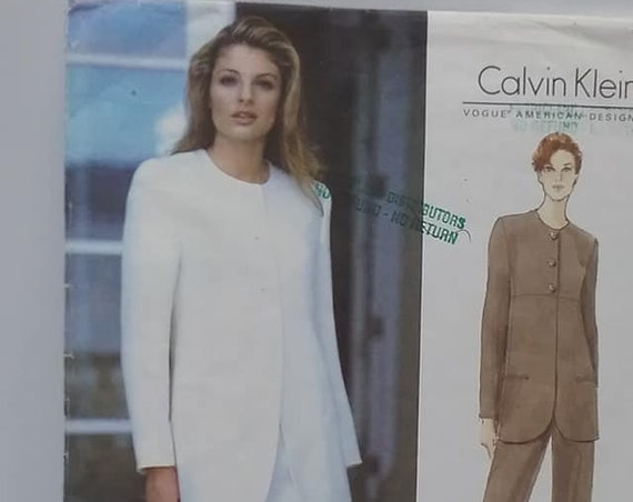 Vogue Calvin Klein Sewing Pattern #1553, Jacket, Skirt and Pants, Size 12-16