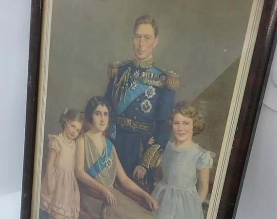 King George VI Royal Family Portrait, 1937