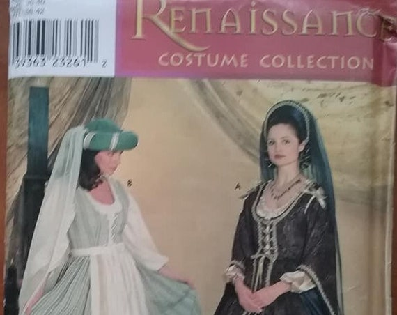 Renaissance Gown Sewing Pattern, , Simplicity 0637 Pattern