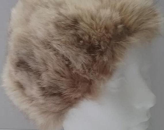 Women''s Authentic Fox Fur Hat, Vintage Canadian