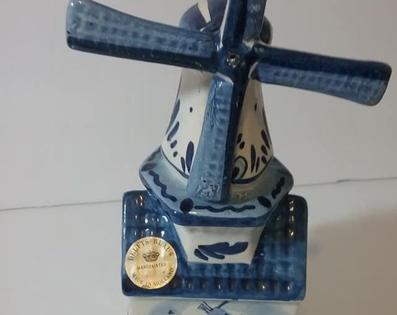 Vintage Delft Musical Windmill