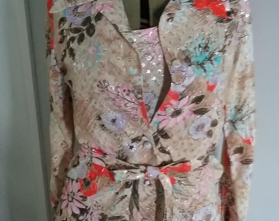Vintage Floral Maxi Dress and Jacket,  Muriel Ryan