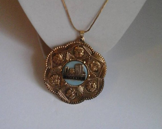 Reproduction Vintage Athene Medallion Necklace