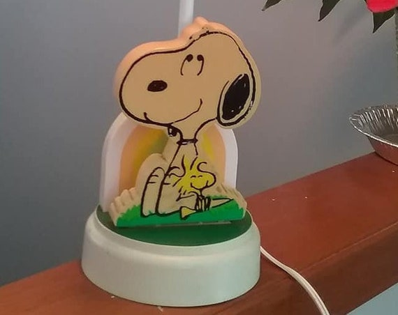 Vintage Snoopy Lamp, Peanuts Charlie Brown
