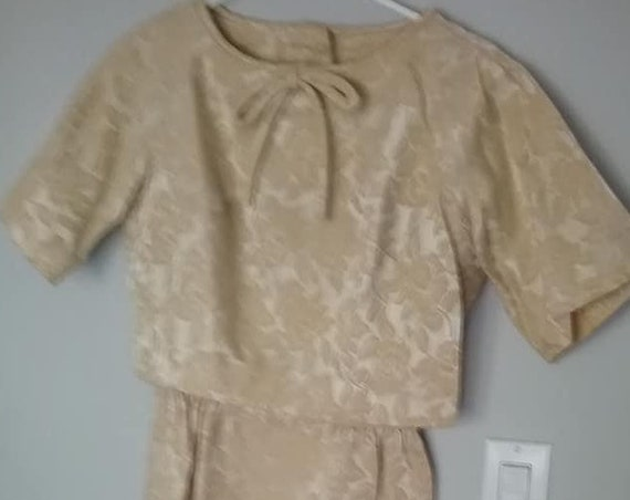 60's Brocade Wiggle Skirt Suit, Vintage Ann Barry Jr