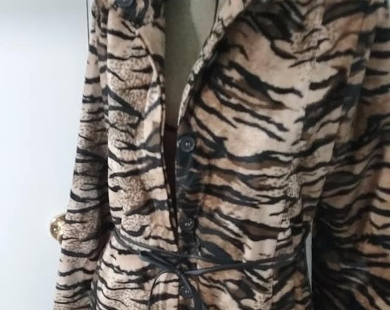 Women's Animal Print long Jacket, Casting Paris
