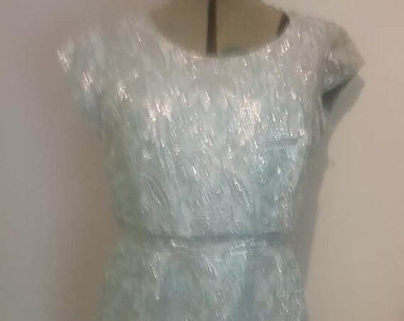 60's Brocade Sparkle Cocktail Dress,
