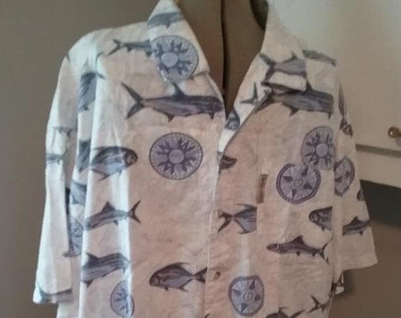 Vintage Men's Sports Shirt, Vintage Men's Vintage Columbia Short Sleeve Sport Shirt, Men's Vintage Short Sleeve Buttoned Casual Shirt,